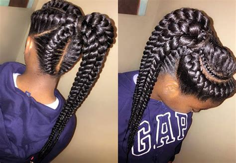 human hair ponytail with goddess braid human hair ponytail with goddess braid mohawk braid into pony for black women hair styles