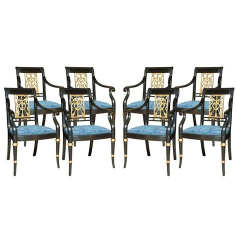 Jansen Furniture by Set Of Eight Maison Jansen Painted Arm Chairs At 1stdibs