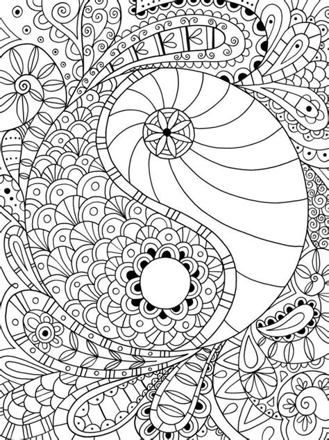 printable coloring pages yin yang yin y yang ϓᎥᑎ ϓᗋᑎ૭ ゚ ԑ ɜ mandala para