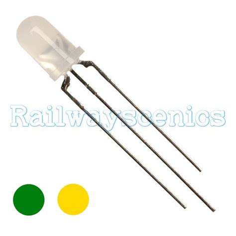tri color led resistor 5mm green yellow tri colour water clear led resistor reqd railwayscenics