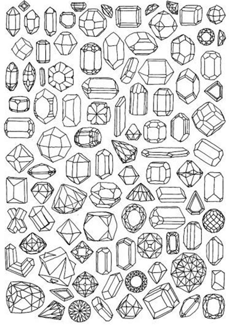 printable coloring pages gemstones gem coloring page printable wrapping paper ilovepaper