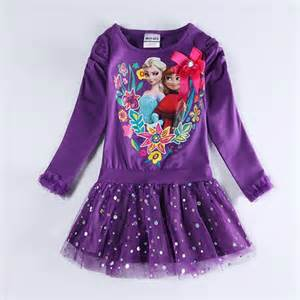frozen dresses for girls children clothes printed cartoon