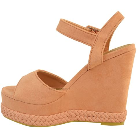 womens wedges high heel summer sandals ankle