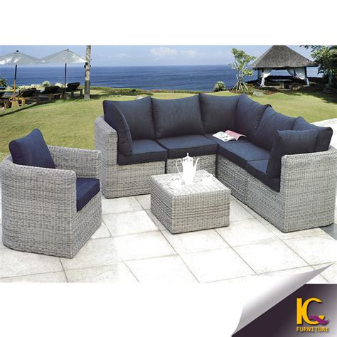 outdoor patio sofas modern cheap comfortable wicker patio rattan sofa