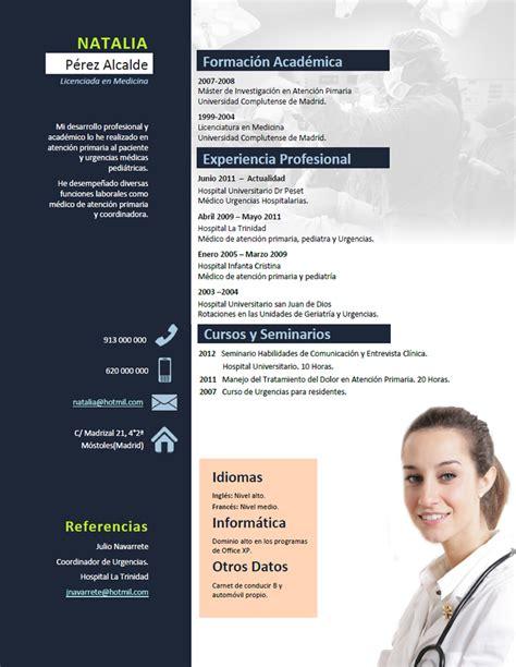 Plantilla De Curriculum Medico elaboraci 243 n curriculum de m 233 dicos o enfermeras
