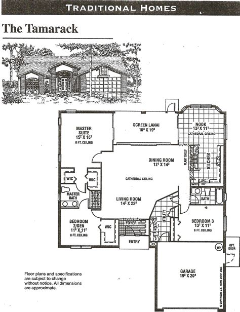 tamarack floor plans heritage pines tamarack floor plan