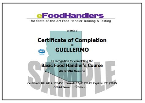 ca food handlers card template food handlers card or food ideas