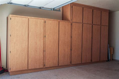 Wooden Cabinets For Garage by Candle Neil S Garage Cabinets