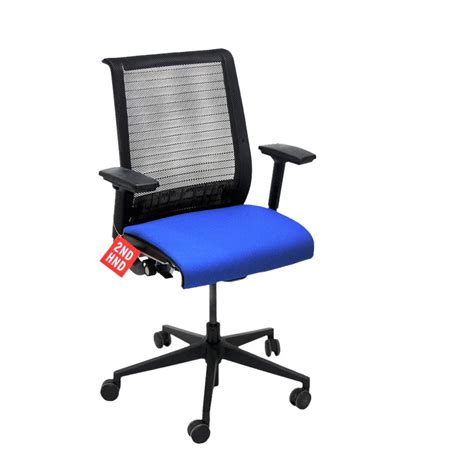 steelcase think office chair in new blue fabric 2ndhnd