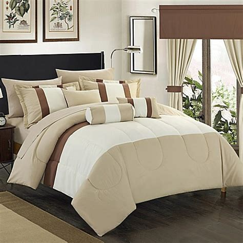 20 piece bedding set chic home wanstead 20 piece comforter set bed bath beyond