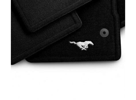 Ford Mustang Mats - ford mustang carpeted front floor mats pony logo 2013 2014
