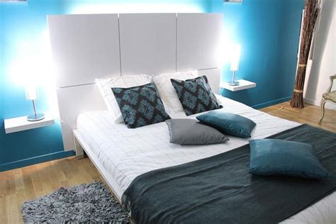 modern blue bedroom colorful small bedroom design ideas