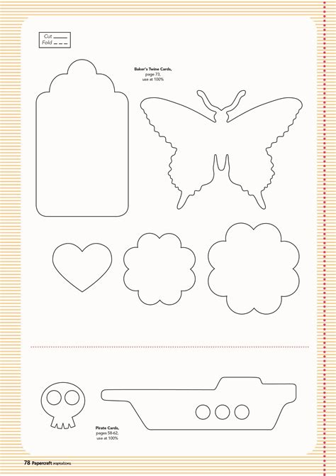 make card free free templates from issue 128 papercraft inspirations