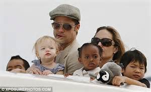 First pictures of brad and angelina s newborn twins and they already
