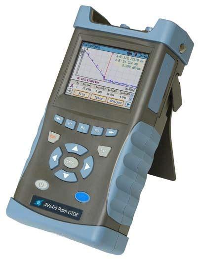 Otdr Palm av6416 palm otdr custom cal new test equipment sales