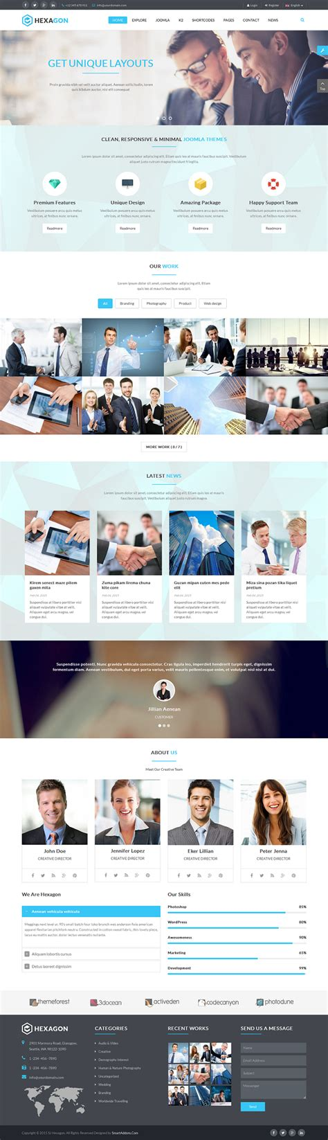 tutorial k2 joomla 3 hexagon responsive multipurpose business joomla template