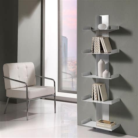 librerie a muro design libreria da parete karyn a colonna in metallo 45 x 160 cm