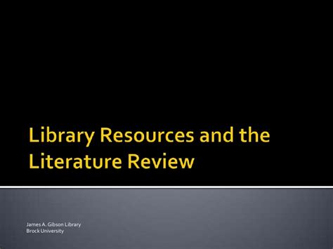 Library Literature Review by Literature Review In Library