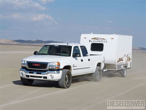 gmc cer trailer 141 99 mph with a trailer diesel power magazine
