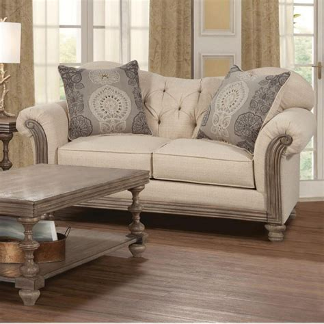 siam parchment sofa loveseat new siam living room set adams furniture