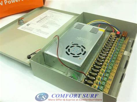 Power Supply Cctv 30a Box Power Supply 30 A Cctv iron box 12v 30a 18ch switching power supply for alarm cctv cameras