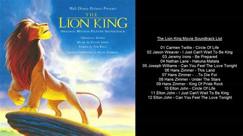 film lion songs the lion king movie soundtrack list youtube