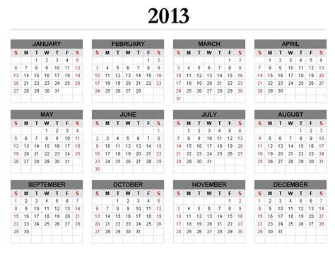 2013 Calendar Printable Calendars