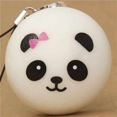 Panda Bun new mini small panda squishy bun pink bow