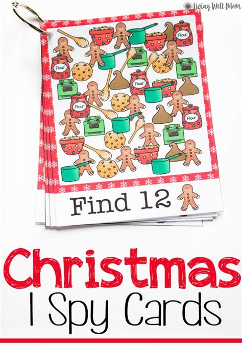 printable christmas cards parents christmas printable ispy cards