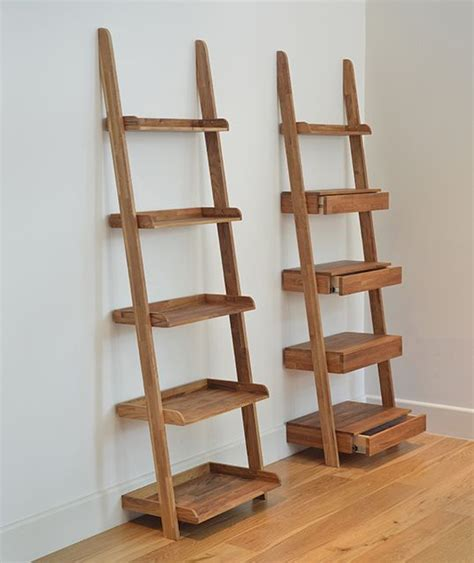 oak ladder shelf new flat more best oak
