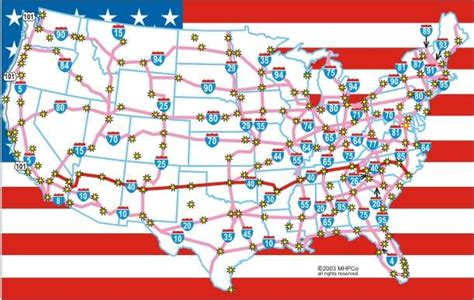 us interstate highways wall map on the road again 224 la carte le nhs le r 233 seau routier le