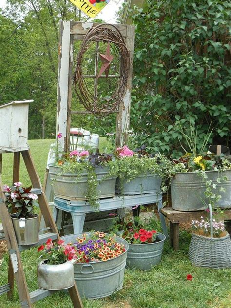 Garden Tubs And Planters by Country Garden I Things Planted In Metal Tubs Wine