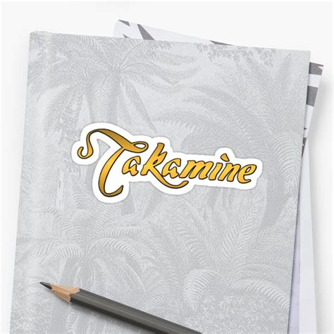 Takamine T Shirt quot takamine gold quot stickers by vikisa redbubble