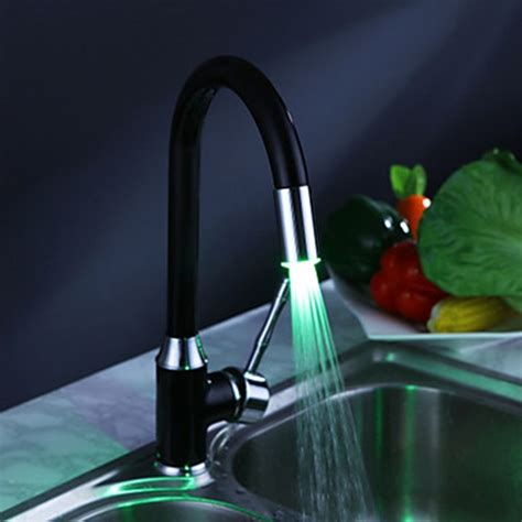 led painting finish brass kitchen faucet with color painting finish kitchen faucet with color changing led