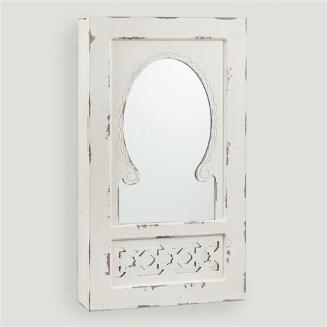 antique white jewelry armoire antique white nali wall jewelry armoire with mirror world market