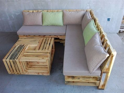 L Shaped Pallet by Wooden Pallet L Shape Sofa Set Backyard Diy Pallet