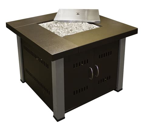 Square Gas Fire Pit Table Outdoor Propane Patio Furniture Gas Pit Cover
