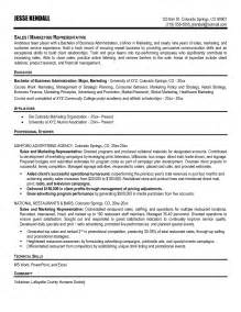sle resume for sales and marketing advertising sales cover letter great essay exles