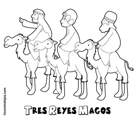 dibujos de navidad para colorear e imprimir reyes magos dibujo de los tres reyes magos para pintar