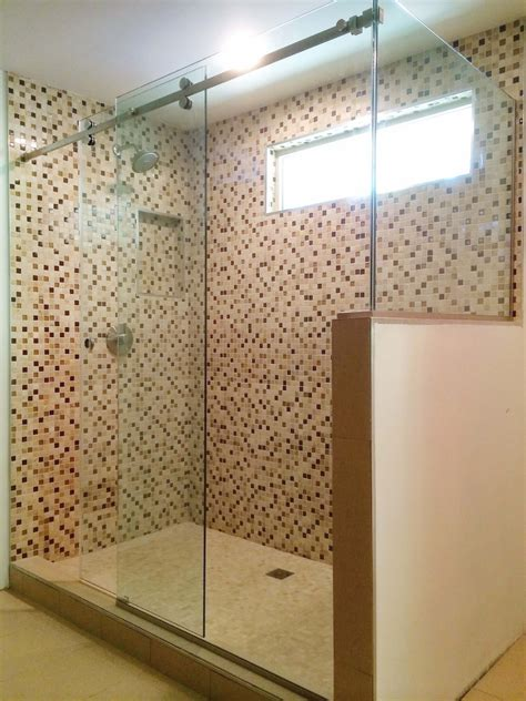 Frameless Sliding Shower Doors And Enclosures Stand Up Shower Glass Door