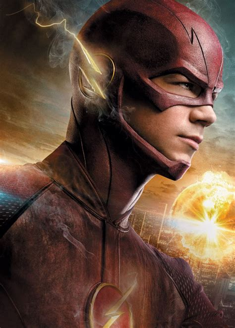 awesome  promo art featuring grant gustin suited    flash dc pinterest
