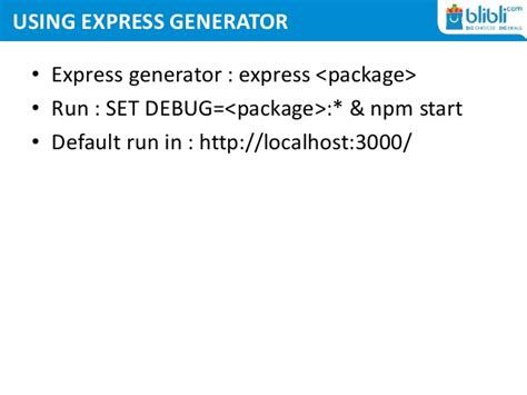 blibli express service express nodejs web application framework autos post