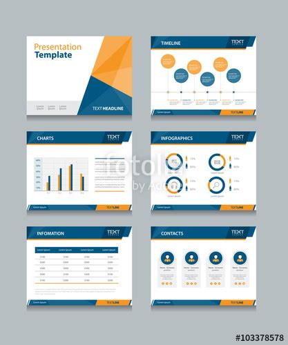 quot business presentation template set powerpoint template