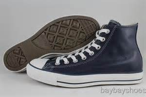 Converse Hi Monoblack Indonesia Madeunisex converse all leather hi high chuck navy blue