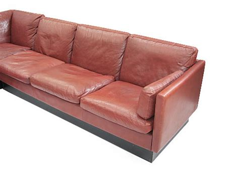 orange and brown sofa large leather goose corner sofa orange and brown