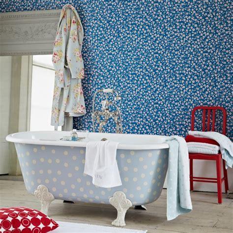 polka dot bathroom blue floral and polka dot bathroom bathroom decorating