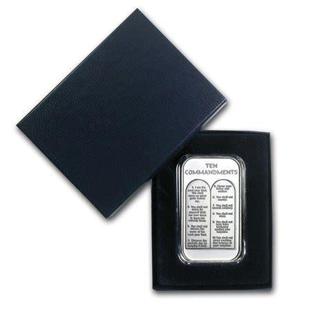 1 oz silver ten commandments bar 1 oz silver bar ten commandments w box capsule 1