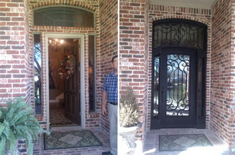 front door before and after 4 benefits of iron front entry doors medford remodeling