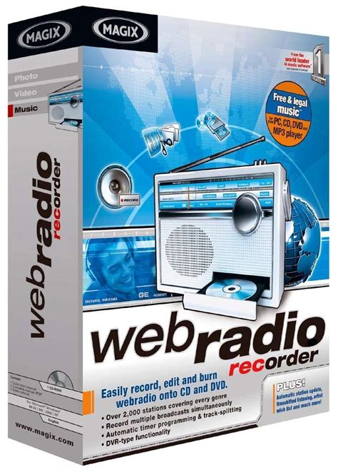 software for recording from web magix announces webradio recorder high quality dvr for radio