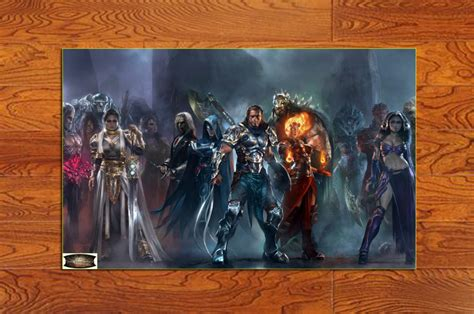 Sword Print Poster High Quality gs09v poster magic the gathering duels of the